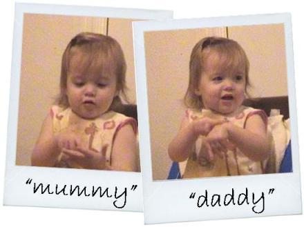baby sign mummy daddy